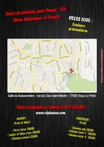 Flyer Spring salsa party, verso