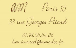 Carte de visite L'ami Marcel
