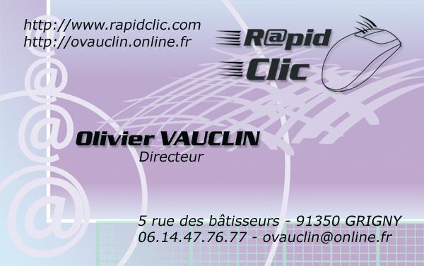 Carte De Visite Rapid Clic
