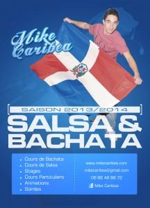 Dépliant cours de Salsa/Bachata
