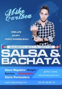 Couverture du dépliant cours de Salsa/Bachata