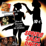 Affiche Spring salsa party