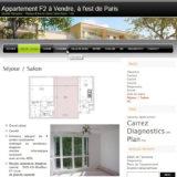 Site internet Appartement F2 à vendre